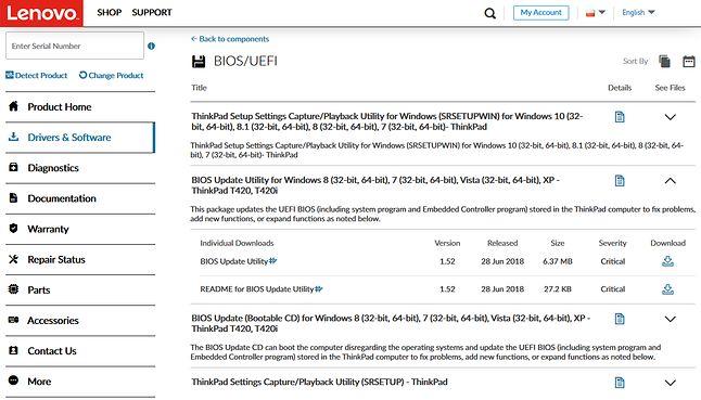 Lenovo oferuje wybitny portal pobierania oprogramowania. Nic dziwnego: odziedziczyli go po firmie IBM