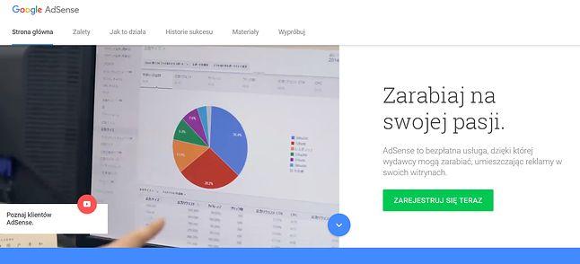 Google AdSense: serwis pozwalający zarządzać reklamami na stronach wydawców.