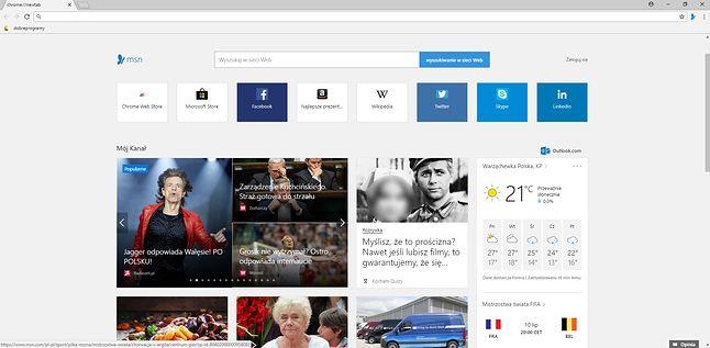 Dzięki dodatkowi, podobny efekt można uzyskać w Google Chrome.