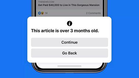 Facebook będzie ostrzegać użytkowników, kiedy zechcą udostępnić stary artykuł