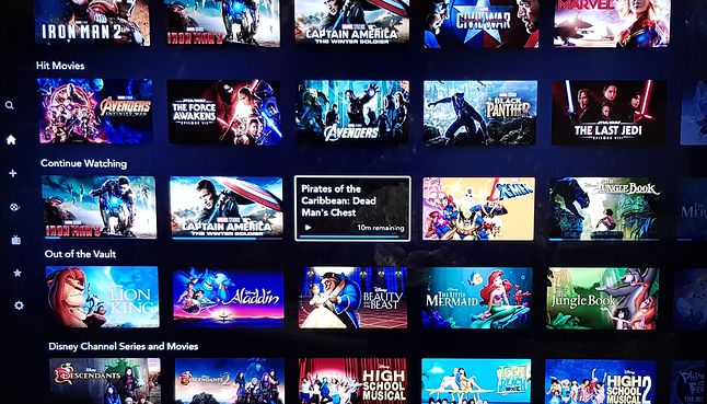 Aplikacja Disney+ w wersji na Smart TV, fot. Jakub Krawczyński