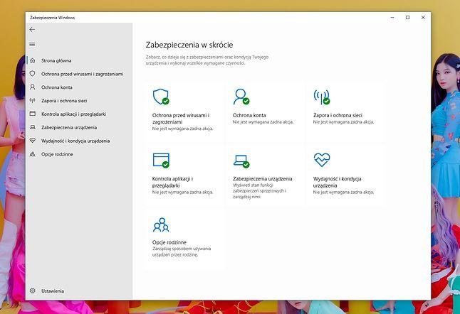 Zabezpieczenia Windows