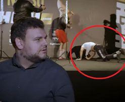 Za plecami dziennikarza brutalnie się pobili! Wszystko nagrały kamery!