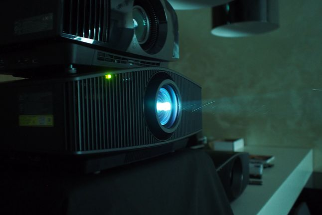 Można też było sprawdzić w akcji topowe modele projektorów 4K Sony