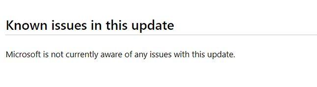 W chwili pisania niniejszego tekstu, Microsoft nie potwierdza żadnych błędów dotyczących aktualizacji KB4549951.