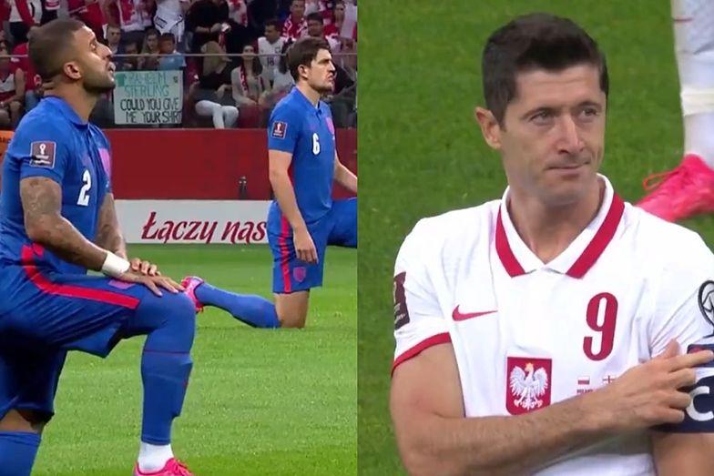 Anglicy klęknęli przed meczem z Polską. Ogłuszające gwizdy na Narodowym