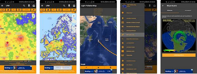 Aplikacja Light Pollution Map