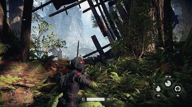 Battlefront 2 na Xbox One S z supersamplingiem
