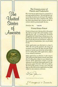Amerykański dokument patentowy