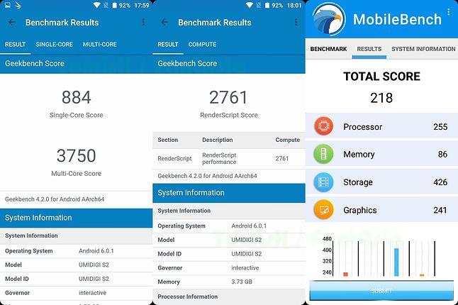 Geekbench 4, MobileBench