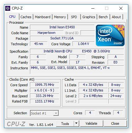 CPU-Z: na papierze nie wygląda to źle...