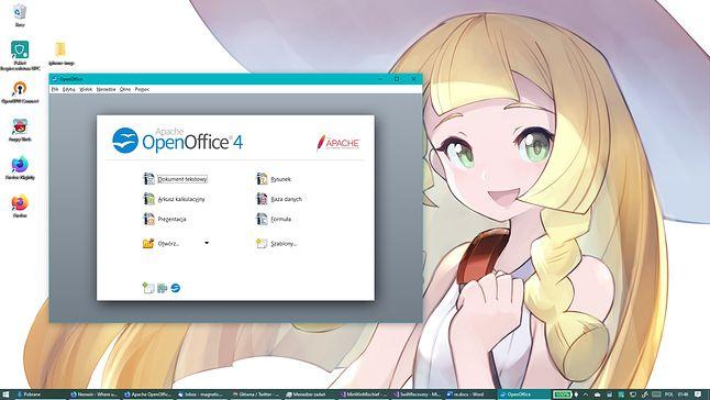 Ach, OpenOffice. Estetyczna podróż do 2006!