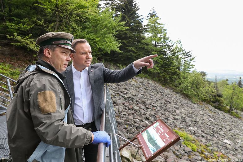 Andrzej Duda na wizycie w Świętokrzyskim Parku Narodowym