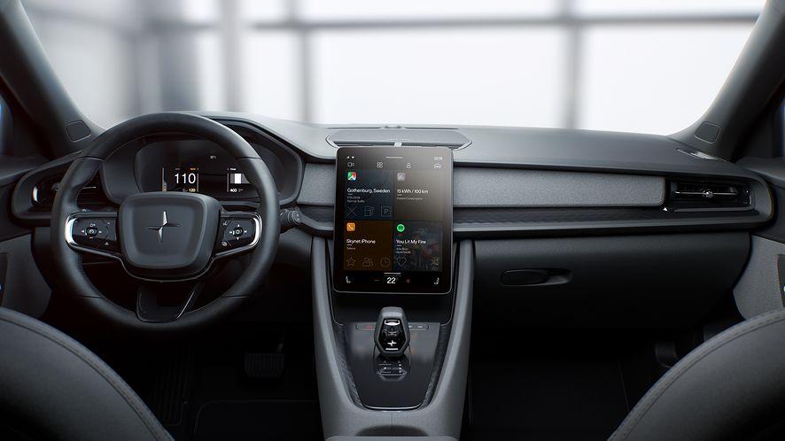 Mapy Google w Android Automotive, fot. materiały prasowe Polestar