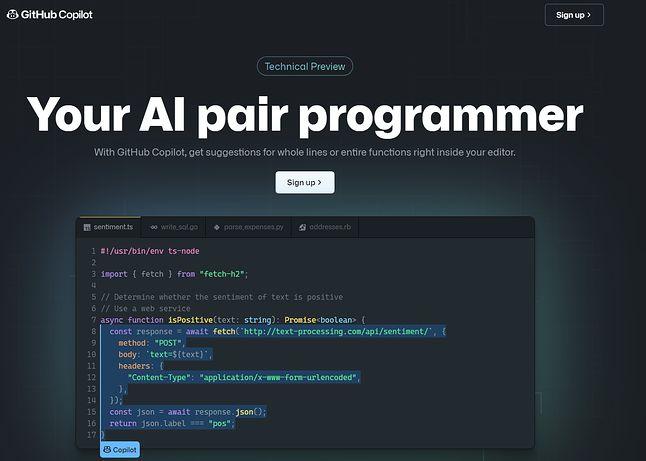 Copilot być może nie nadaje się jeszcze do pair programmingu, ale może być pomocny z innych powodów