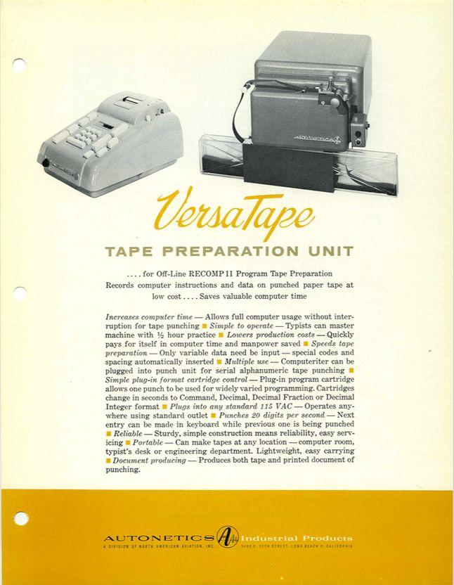 VesaTape - jednostka do odczytu i zapisu na taśmach perforowanych.