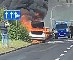 Poznań. Groźny wypadek. Nad miastem pojawiły się kłęby dymu