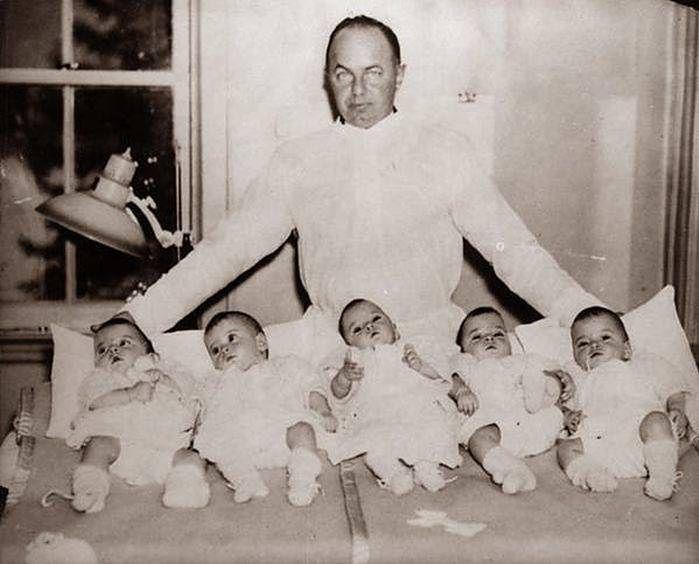 Sensacyjne narodziny pięciu dziewczynek