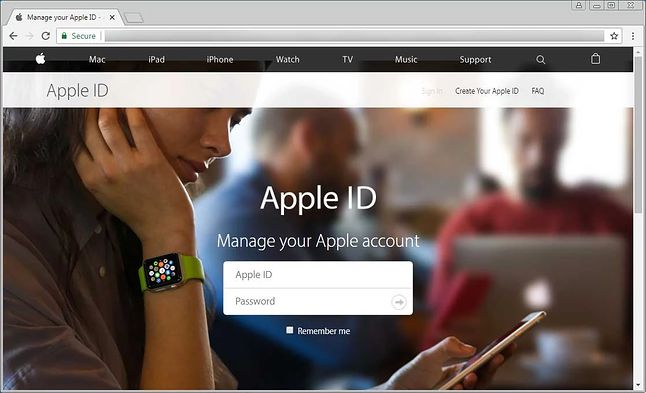 szkodliwa strona, podszywająca się pod stronę logowania Apple / BleepingComputer
