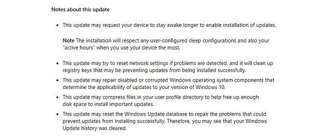 Wycinek opisu łatki KB4023057, źródło: Windows support.