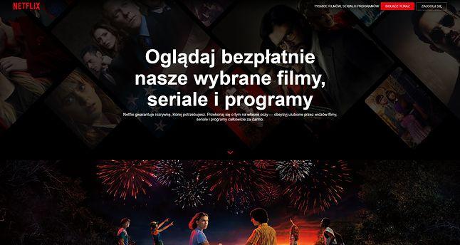 Netflix zachęca do oglądania darmowych filmów i seriali, fot. Oskar Ziomek.