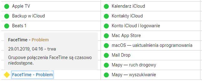 Grupowe połączenia w FaceTime są wciąż niedostępne, źródło: Apple.