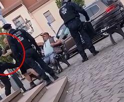 Pił piwo na ławce. Policjant zadał mu cios niczym Bruce Lee