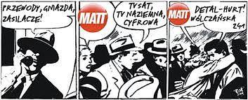 PTH MATT miało zawsze ciekawe, kominkowe reklamy. Ich autorem najczęściej był Stefan Drobner.