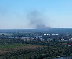 Szczecin. Wybuchy na autostradzie. Płoną dwa czołgi
