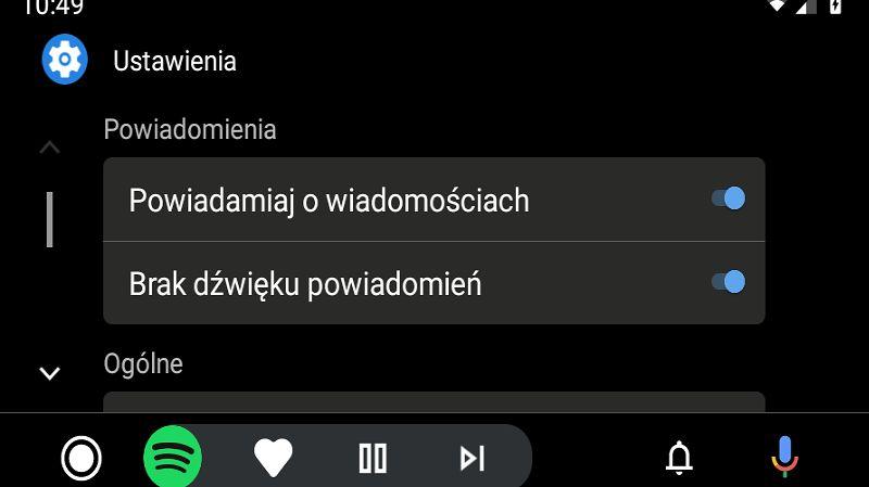 Android Auto oferuje odświeżone ustawienia, ale tylko w smartfonie, fot. Oskar Ziomek