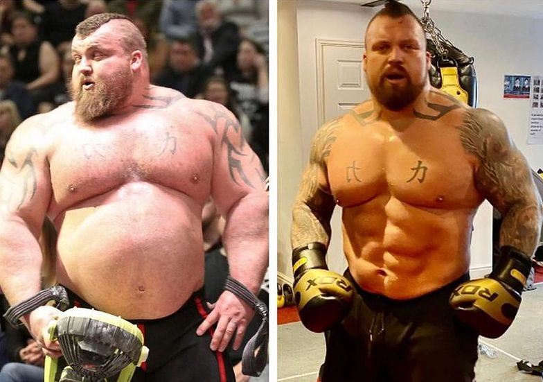 Znany siłacz zjadał gigantyczne porcje. I schudł