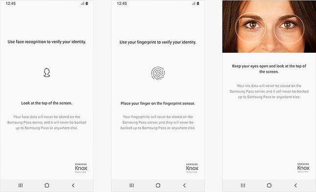 Przykładowe ikony stosowane przez Samsunga