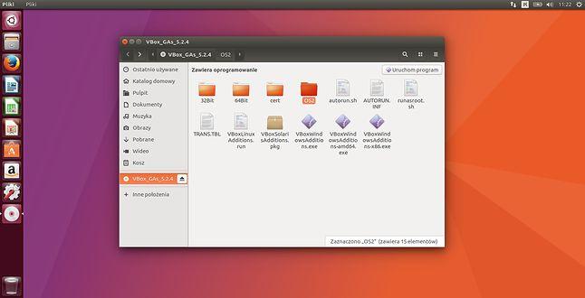 Obraz płyty z dodatkami gościa zamontowany w Ubuntu