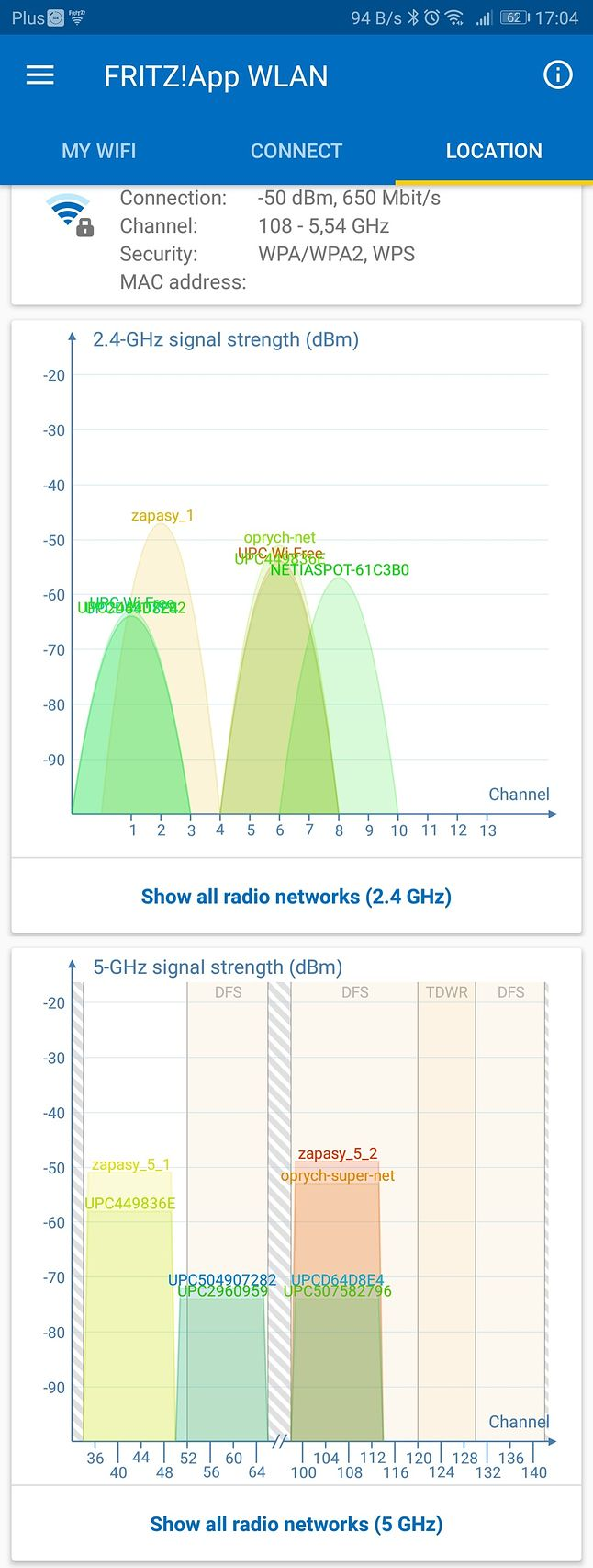 Odległość 2-3 m od routera, brak przeszkód