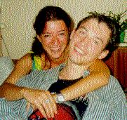 Jonada i Uładzimir. Zdjęcie wykonane w 1999 roku.