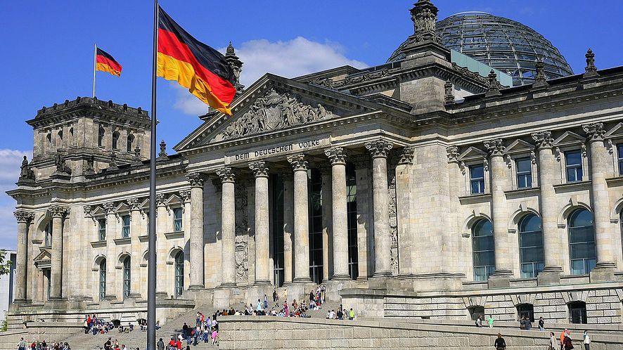 Budynek niemieckiego Bundestagu