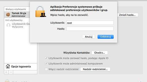 Twitter grzmi o poważnej luce w macOS: logowanie na roota bez hasła
