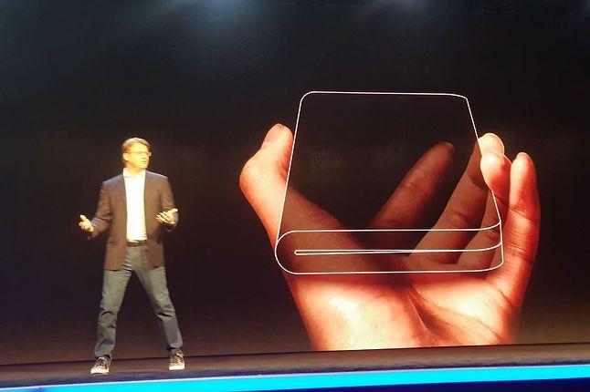 Składany smartfon Samsunga.