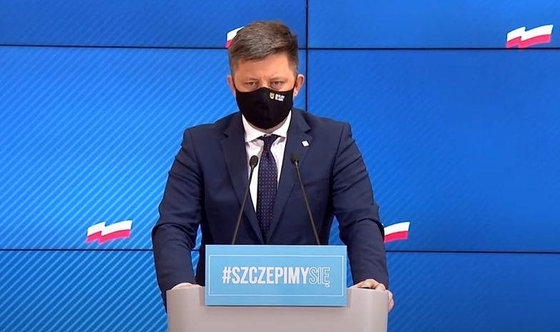 Konferencja ministra Dworczyka. Szczepienia dla niepełnosprawnych