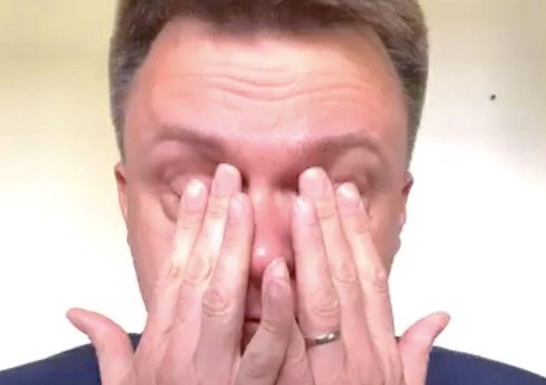 Hołownia płakał przed kamerą