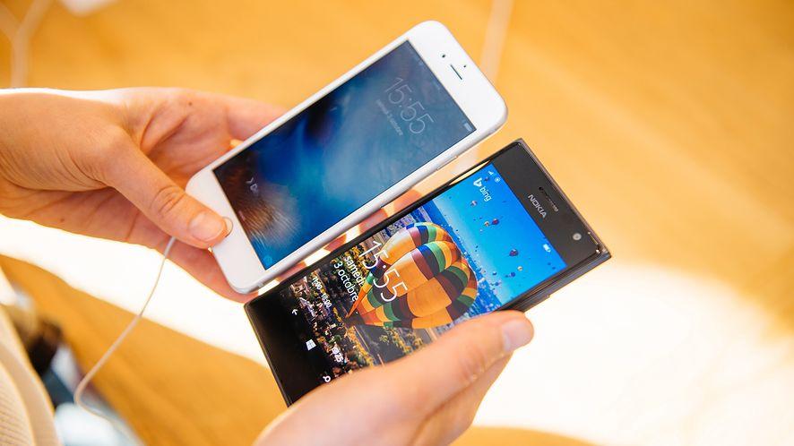 iPhone 6s i Nokia Lumia z depositphotos