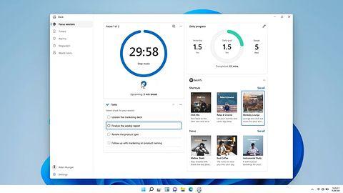 Windows 11: Zegar z nowymi funkcjami. Znalazło się miejsce dla Spotify