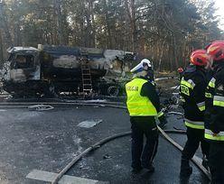 Tragedia na DK91. Zderzenie z cysterną i pożar
