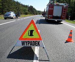 Wypadek na A1. Motocyklista jest w ciężkim stanie