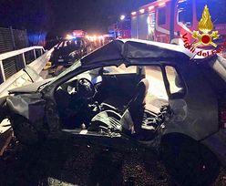 Dziki wbiegły na A1 we Włoszech. Nie żyje Polak, 10 osób jest rannych