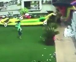 8-latka walczy o życie, po tym jak wiatr porwał nadmuchiwaną zjeżdżalnię