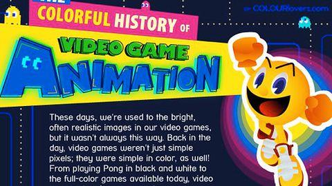 Historia kolorów w grach wideo na jednej grafice