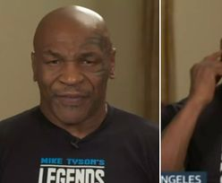 Dziwne zachowanie Mike'a Tysona podczas rozmowy na żywo. Internauci w szoku