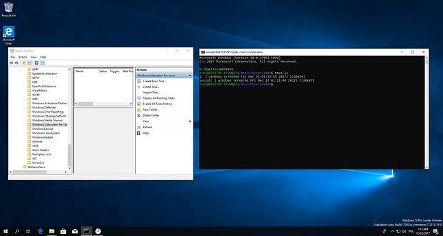 Harmonogram zadań dla WSL i linuksowa sesja uruchomiona w tle