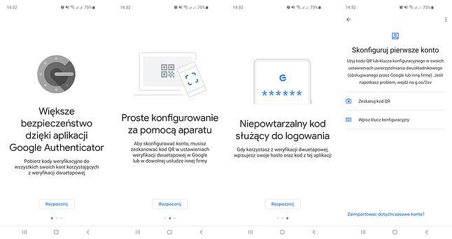 Google Authenticator to w gruncie rzeczy bardzo prosta aplikacja, fot. Oskar Ziomek.